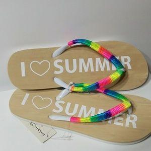 I ❤ SUMMER Flip flops